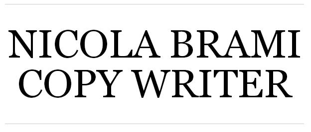 Risorse utili: Nicola Brami – Copywriter