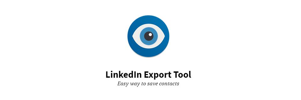Linkedin export tool e puoi esportare i dati come vuoi